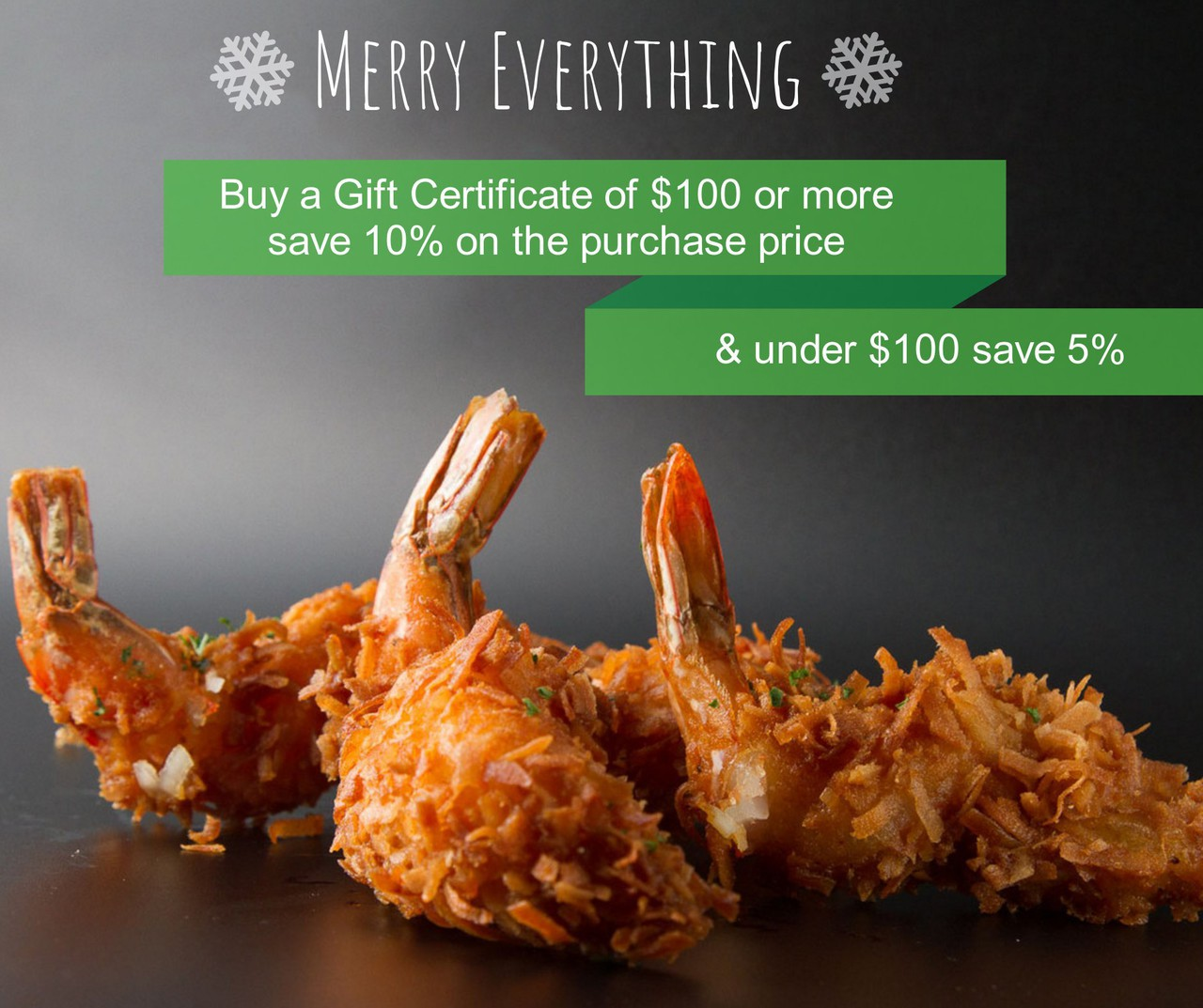 Holiday Gift Certificate Deal