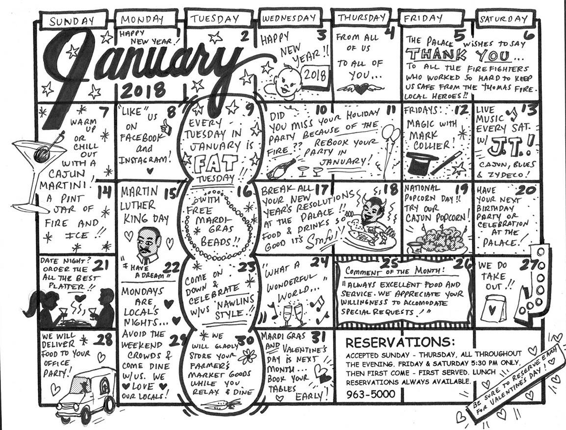 Events Santa Barbara Restaurant January