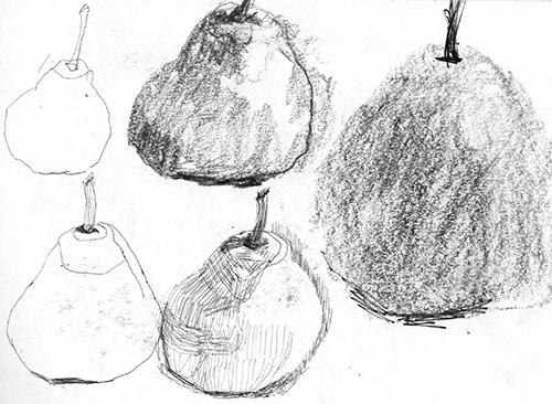 Pears, pencil