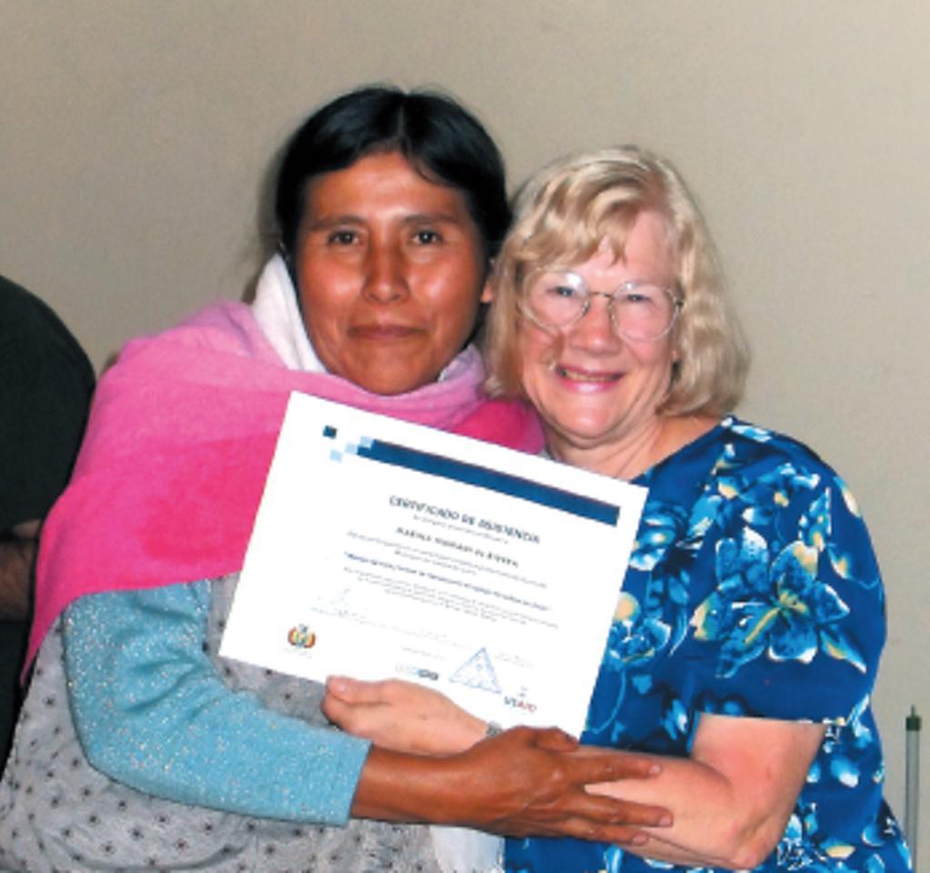 Celebrating graduation, class of 2010, La Paz, Bolivia.