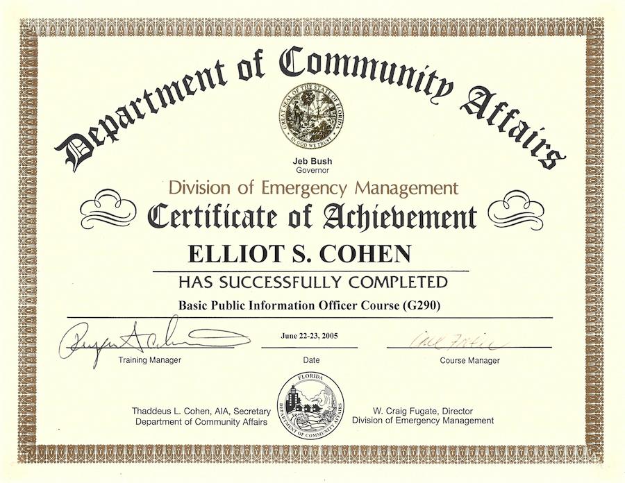 Elliot Cohen FL DEM Certificate copy.png