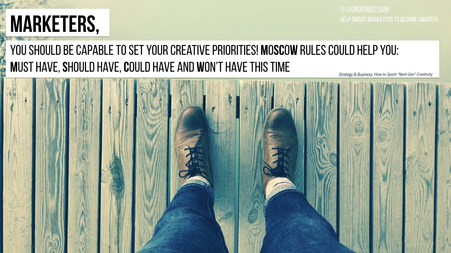 Marketers, you should set your creative priorities