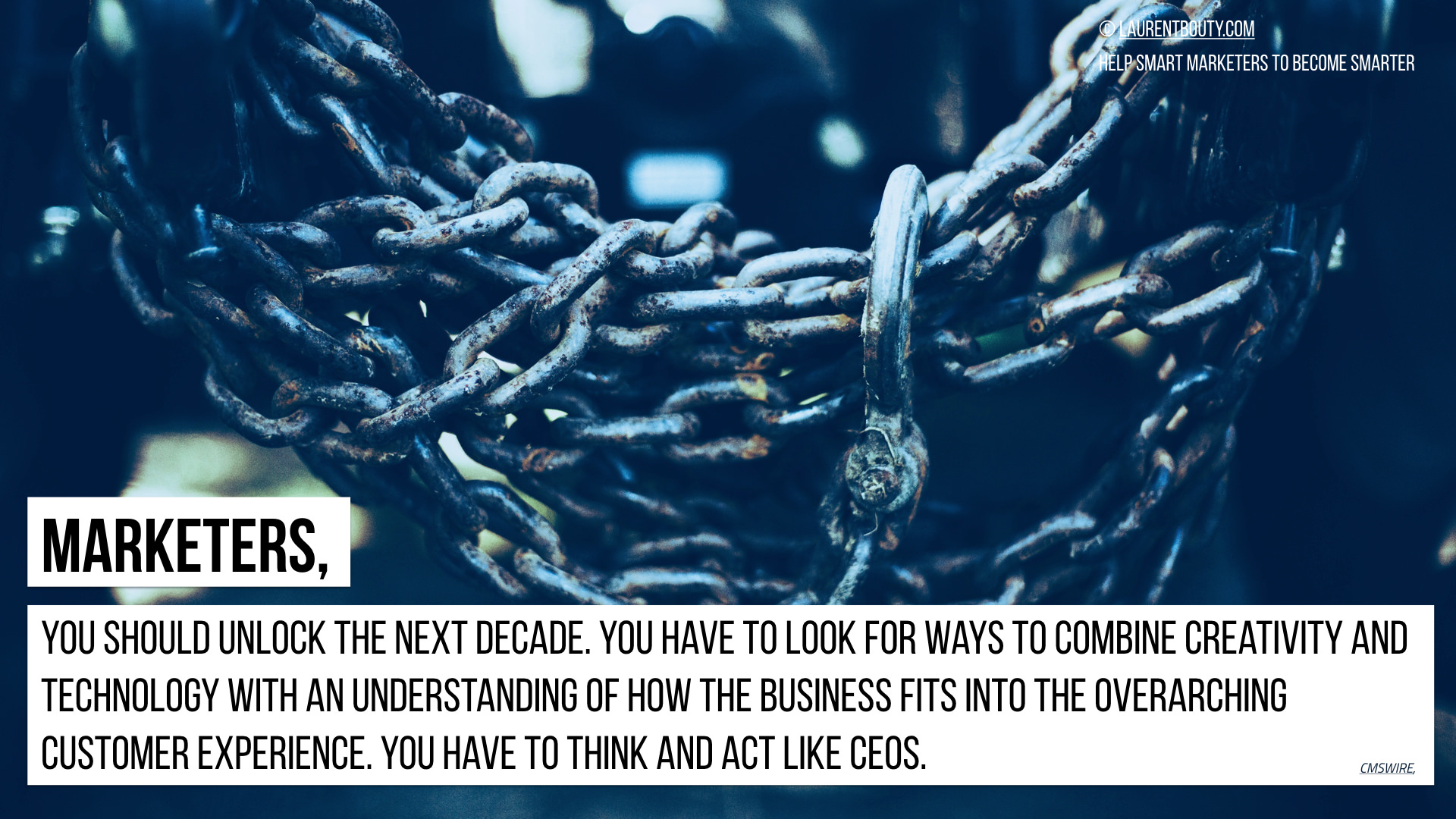 Marketers, You should unlock the next decade