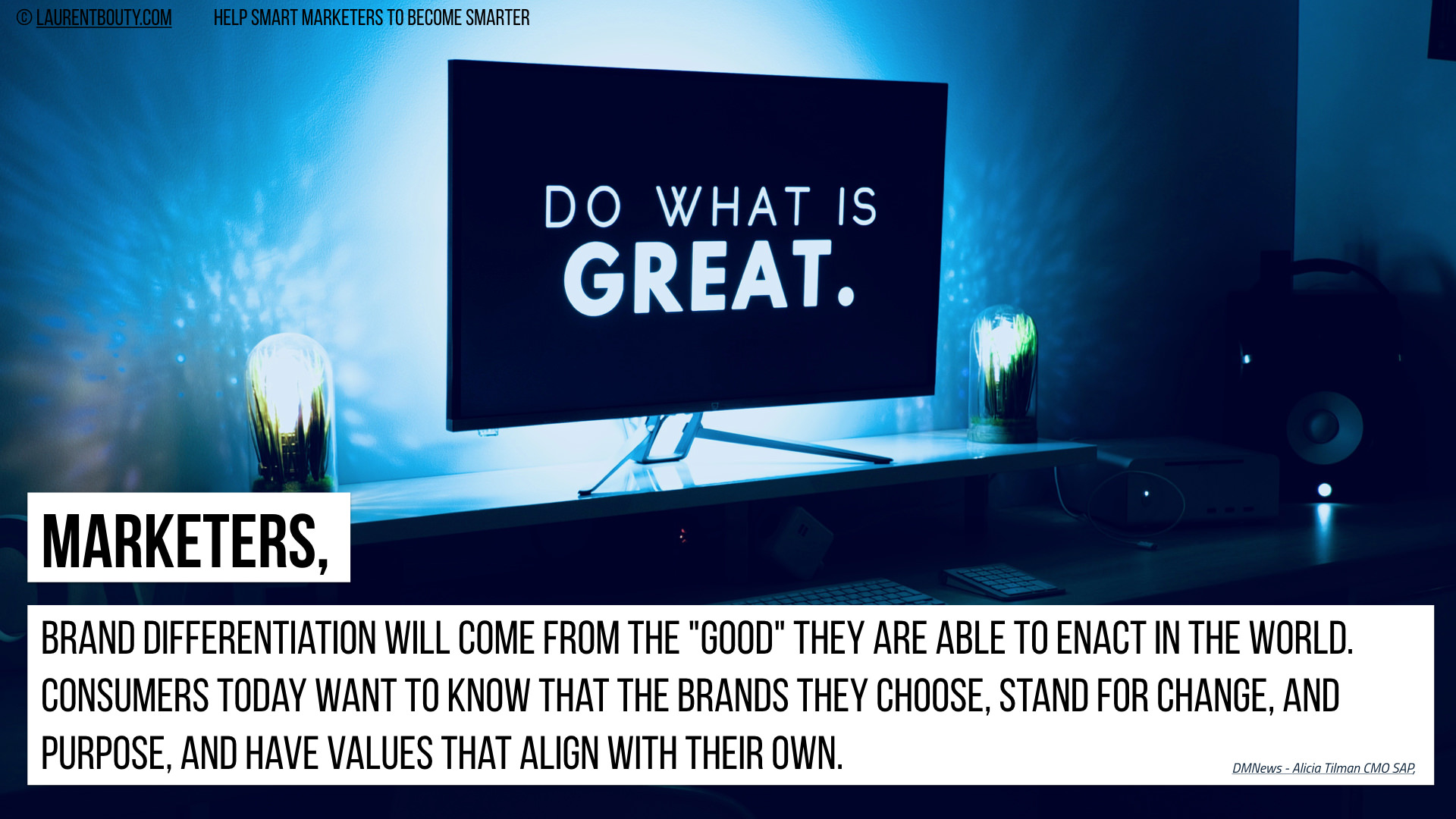 Marketers, Brand Differentiation Come From the Good