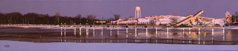Snow Maker  Oil On Canvas by Patrick Seufert