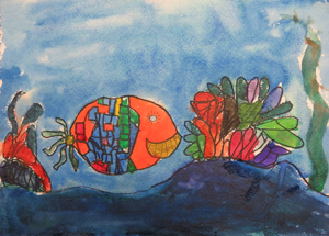 Watercolor fish by Swathi, age 9