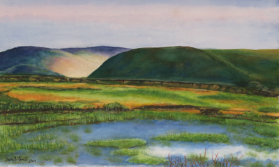 Watercolor landscape, by Susan, Adult