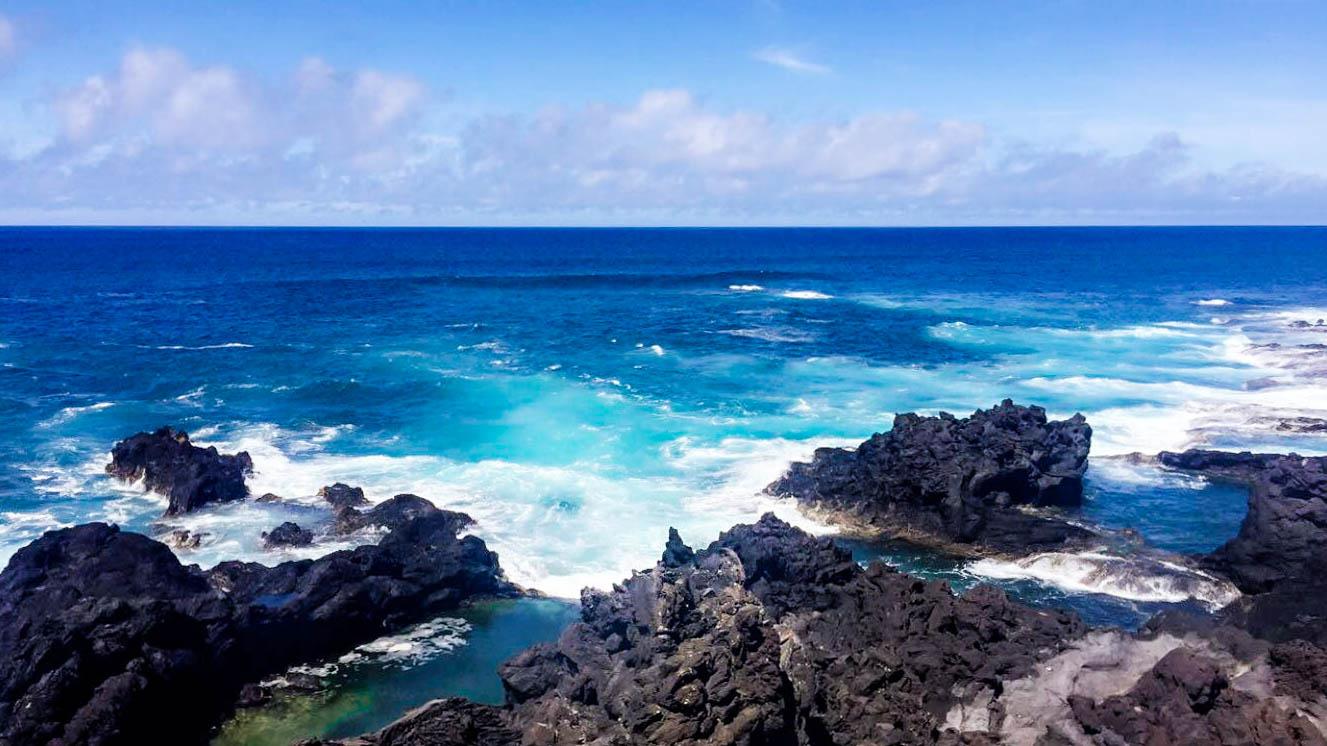 Atlantic Ocean coast on Sao Miguel Island, Azores