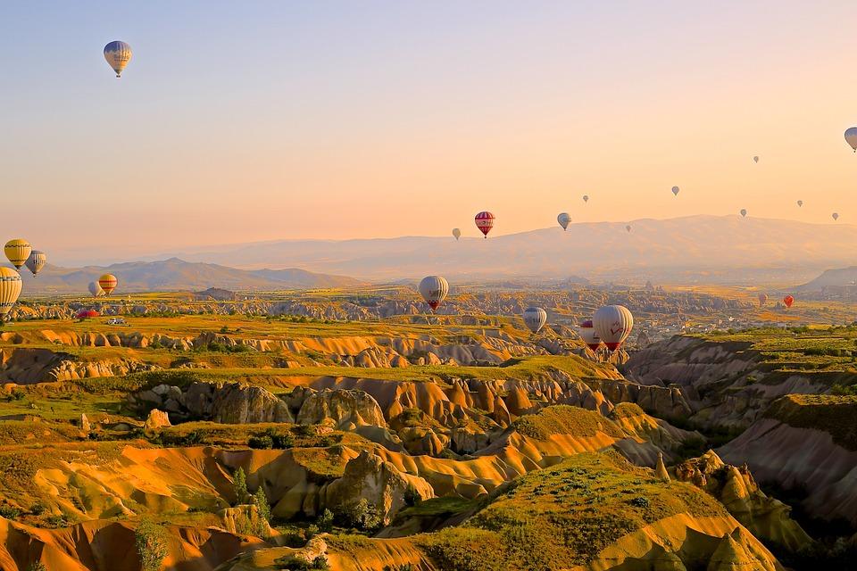 Sunrise Time in Cappadocia, Turkey