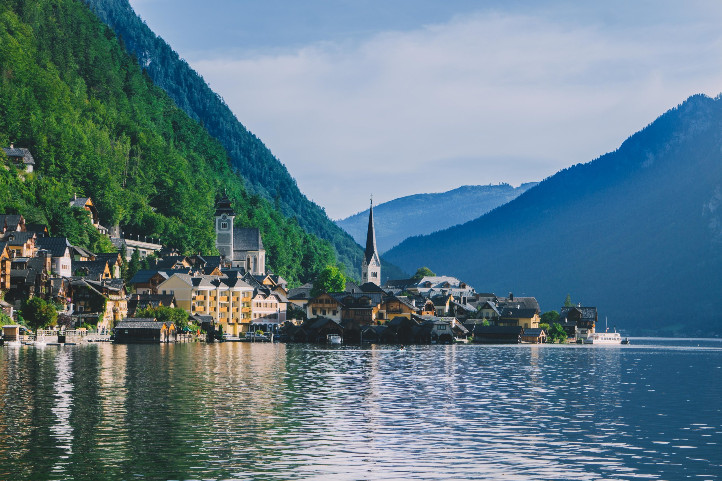 Hallstatt Austria, lake and village view - Have Some Color
