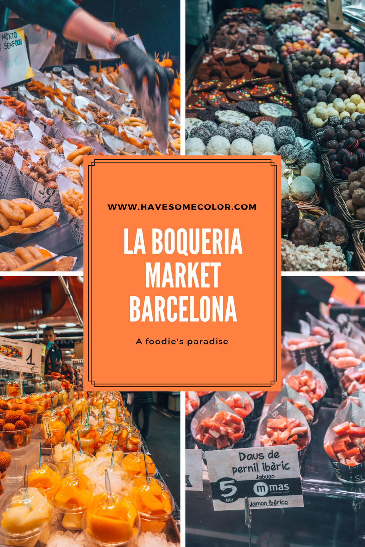La Boqueria Market, Barcelona, Pinterest