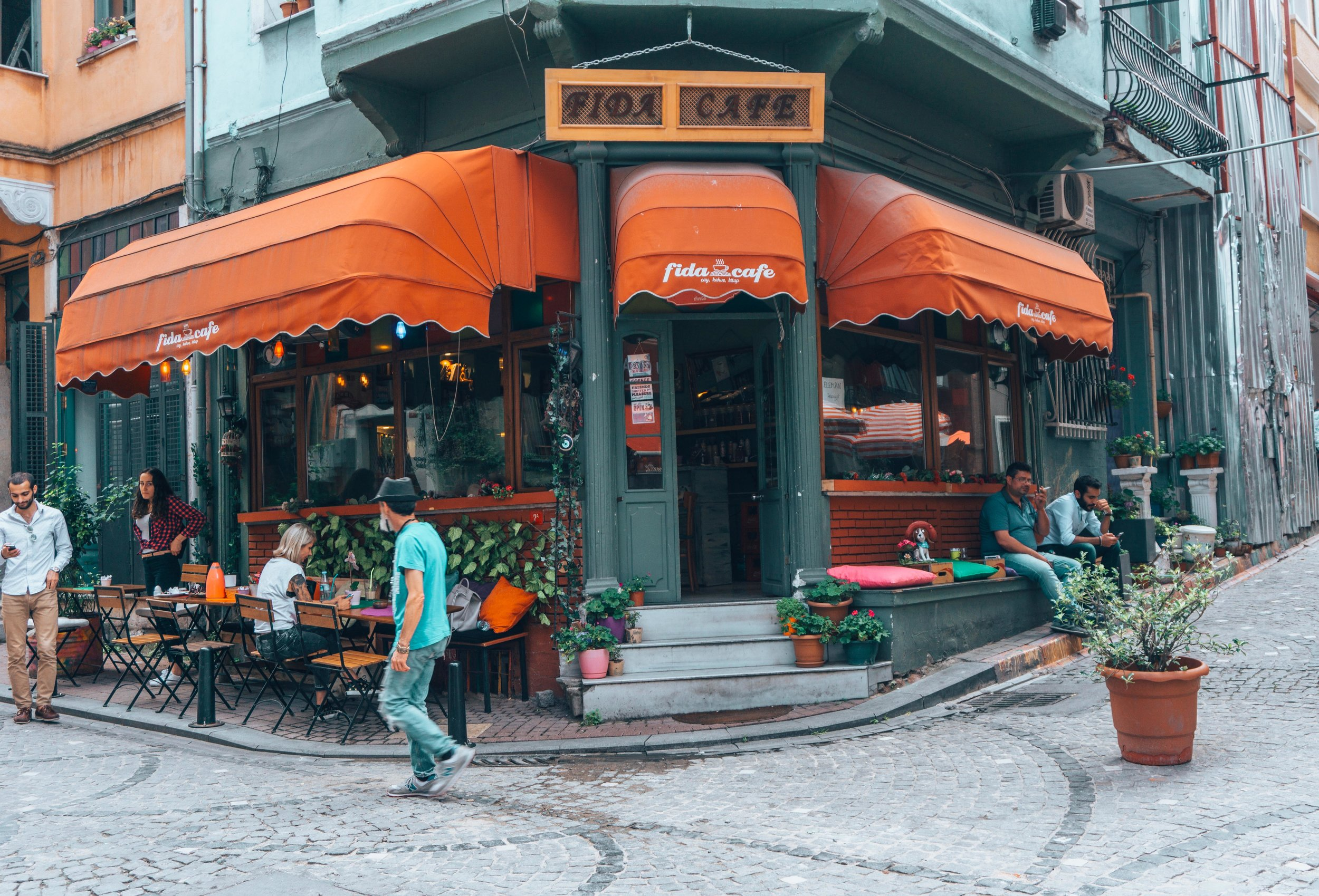 Cafe corner in Balat, Istanbul