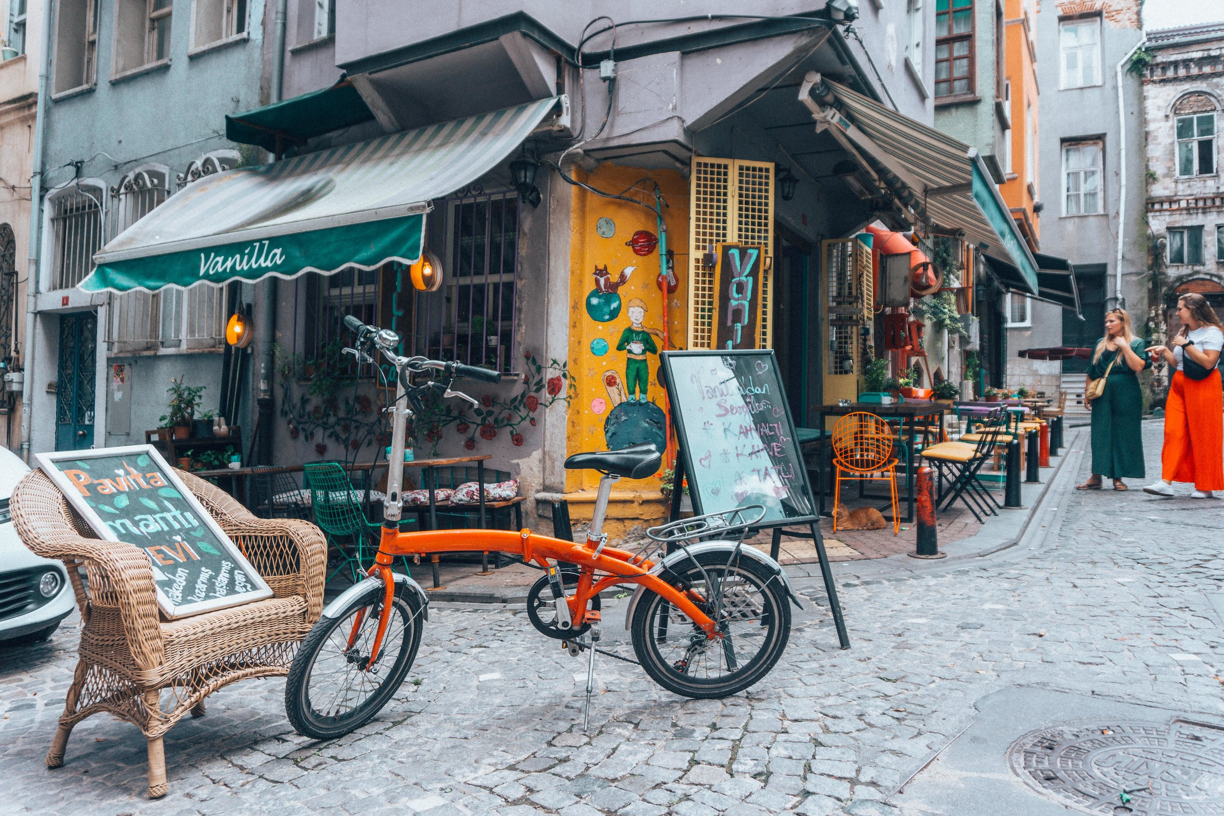 Vanilla cafe in Balat, Istanbul