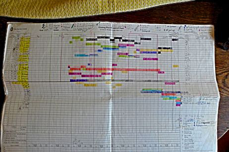 A simple grazing plan being updated at the kitchen table.