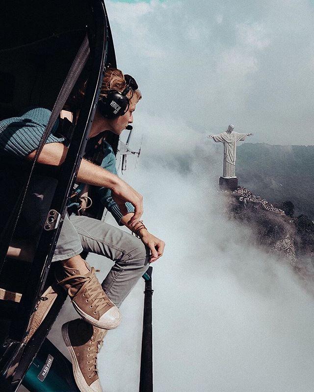 Flying high around Christ the Redeemer 📸@captainpotter 📍Rio de Janeiro, Brazil