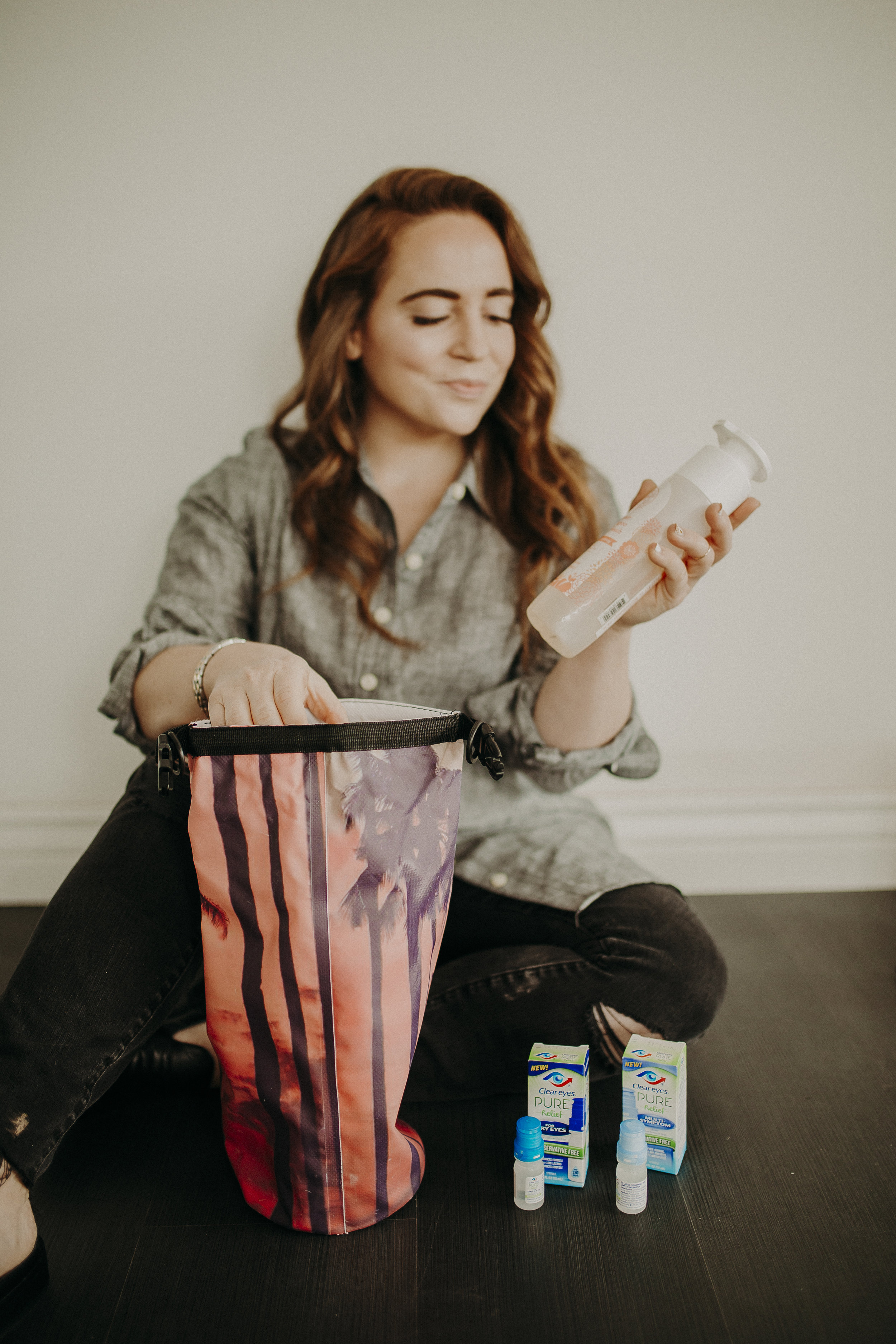 """If, for whatever reason, I need to travel with some larger products, I always bring my """"wet bag"""" (thanks to my friend Ariel who gifted it to me)! This awesome bag is made of leak proof material, and prevents your products from making a mess all over the rest of your belongings!"""