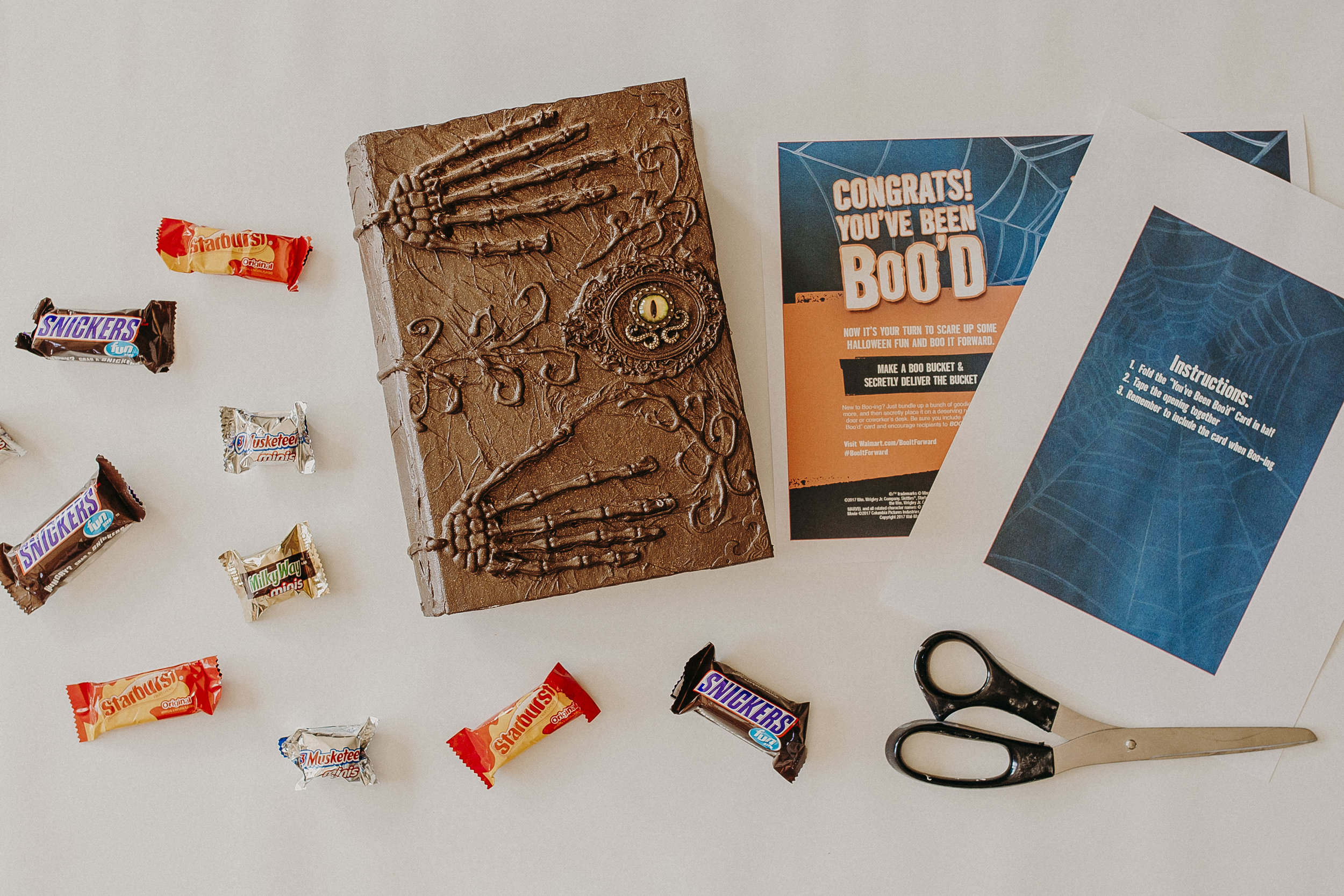 Step Seven: Once your BOO Kit is complete, fill it with Halloween goodies and deliver to some unsuspecting neighbors!