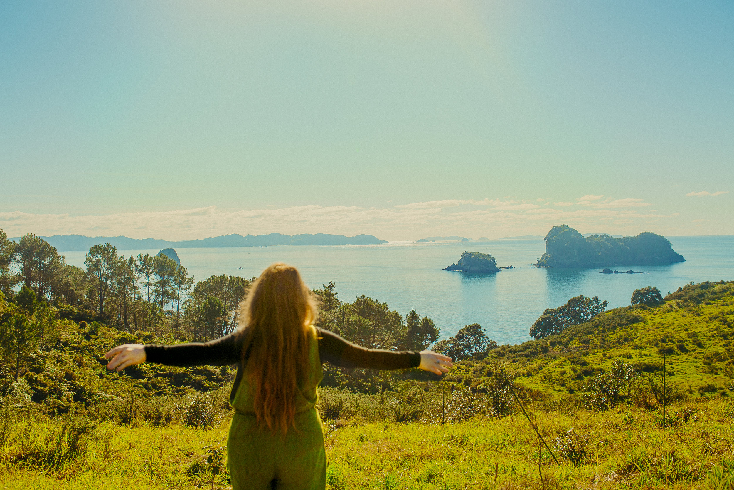 view from the trail to Cathedral Cove
