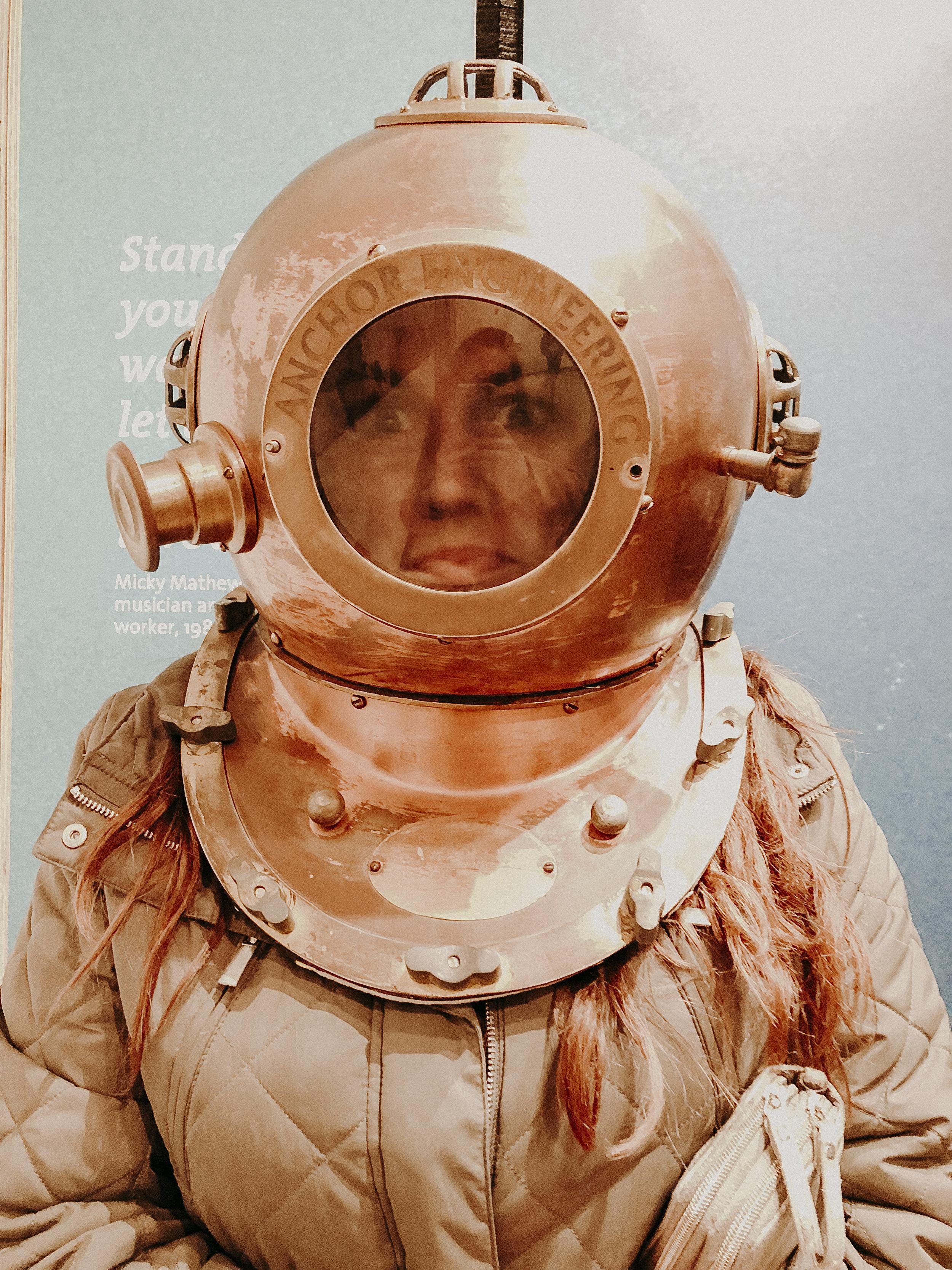 Christine enjoying the National Museum of Australia.