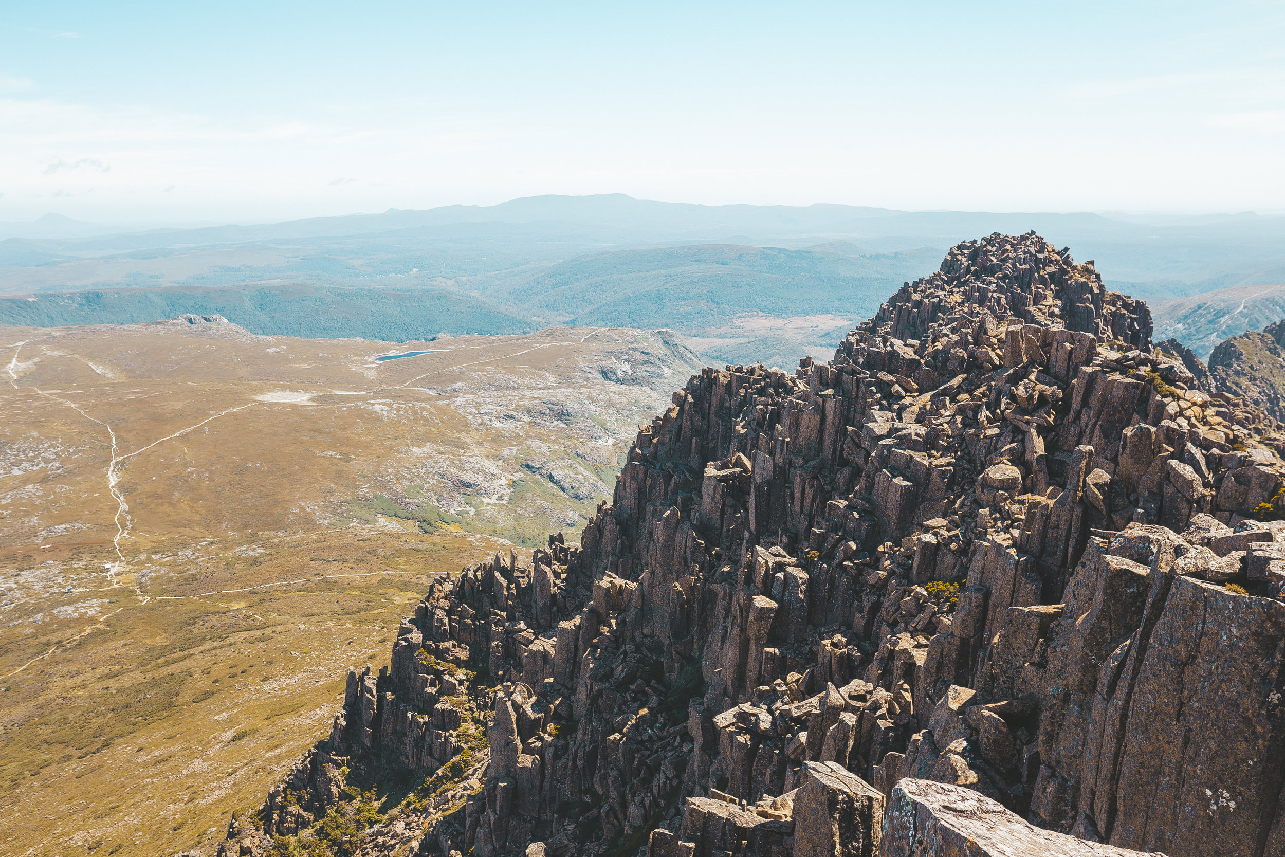 View from the summit of Cradle Mountain