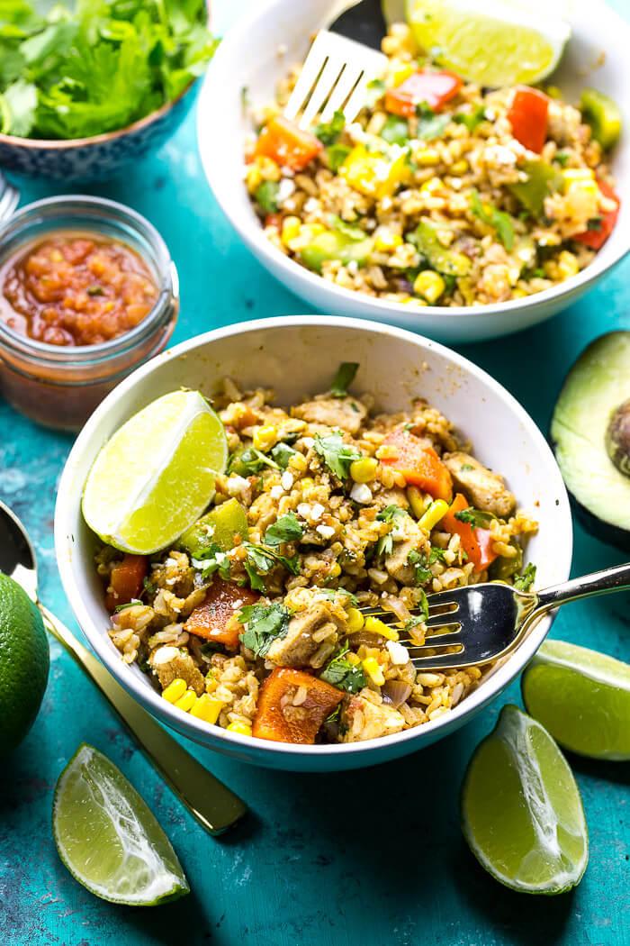 Meal Prep Fiesta Chicken Bowls