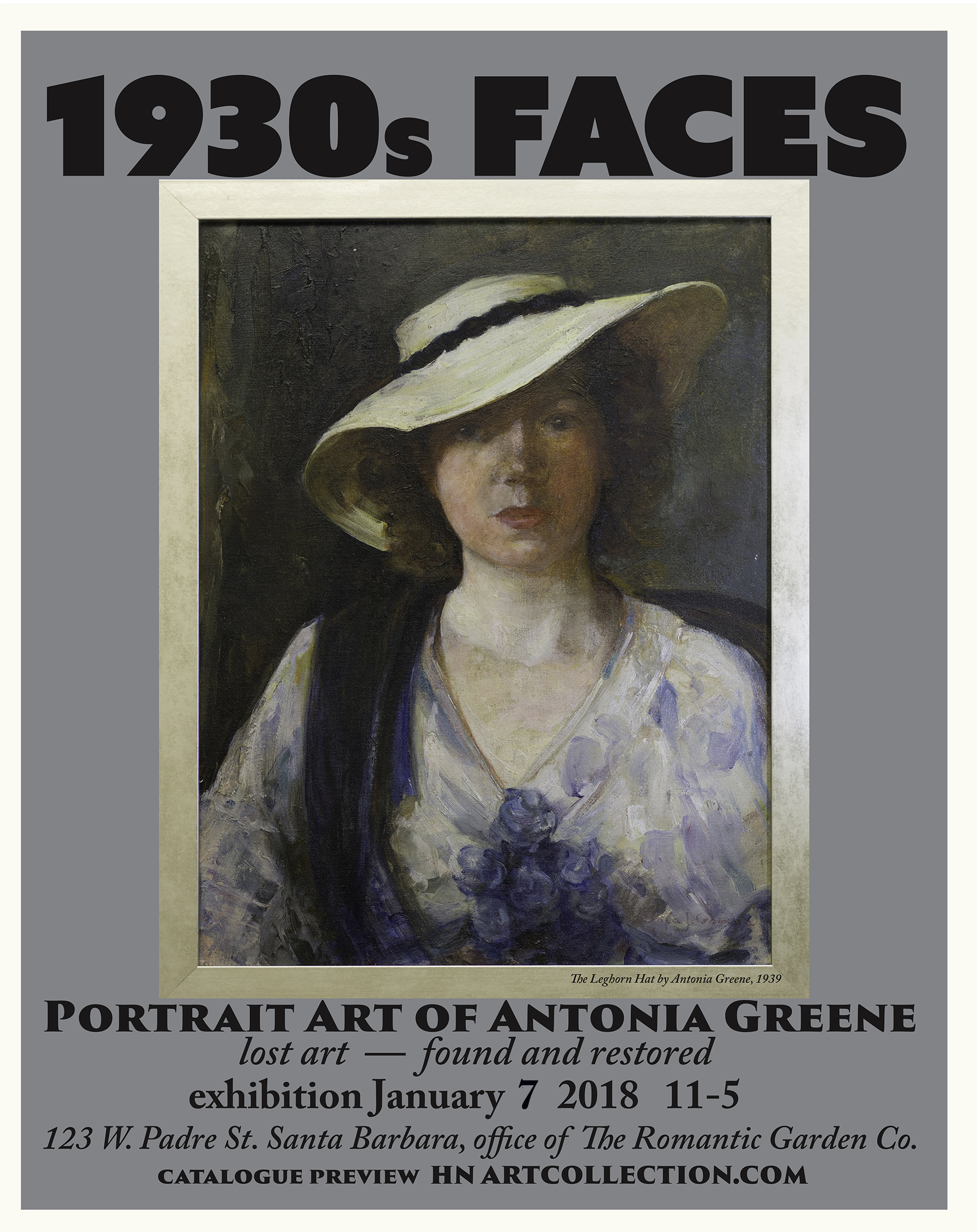 POSTER for Antonia Green exhibition.    Poster design, Henry Null.  For exhibit info, call HENRY 805 331-3233