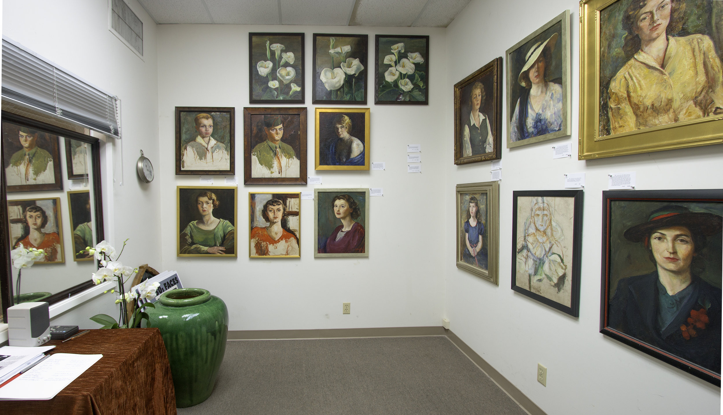 Henry Null collection of Antonia Greene paintings, mostly portraits, mostly from 1930's. Gallery show January 2018 Santa Barbara.