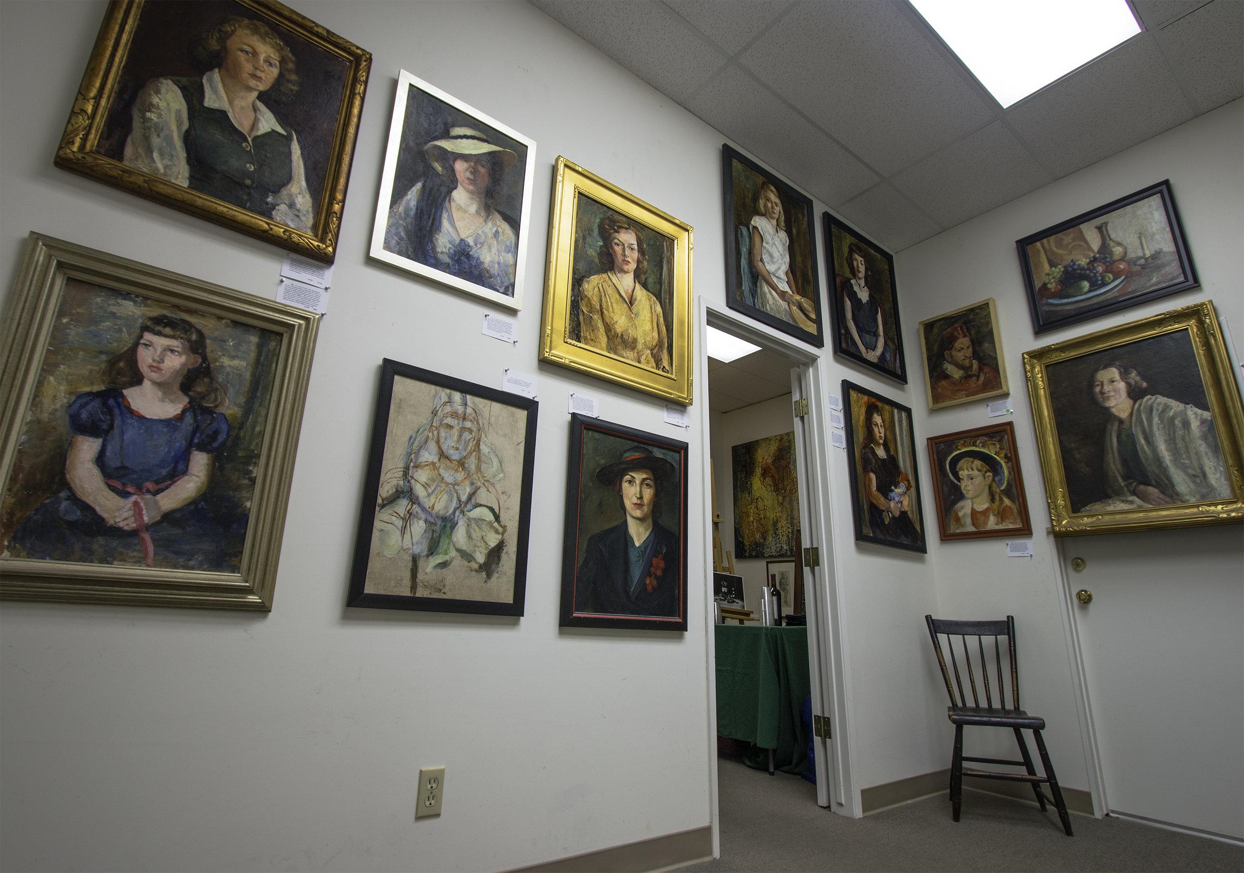Gallery show of Antonia Greene paintings, January 201 8.