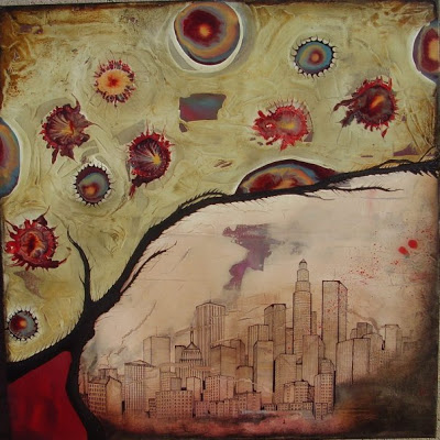 """""""Natures Rapture"""", 2007, 36x36, in private collection"""