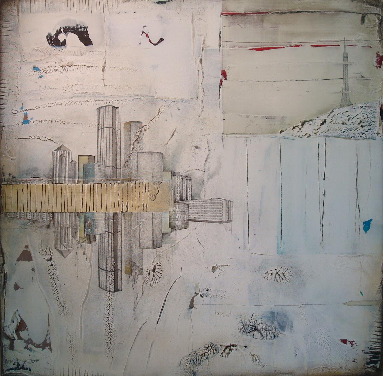 """""""OTHER SIDE OF PARIS"""", 2013, 36""""x36"""", on canvas. in private collection"""