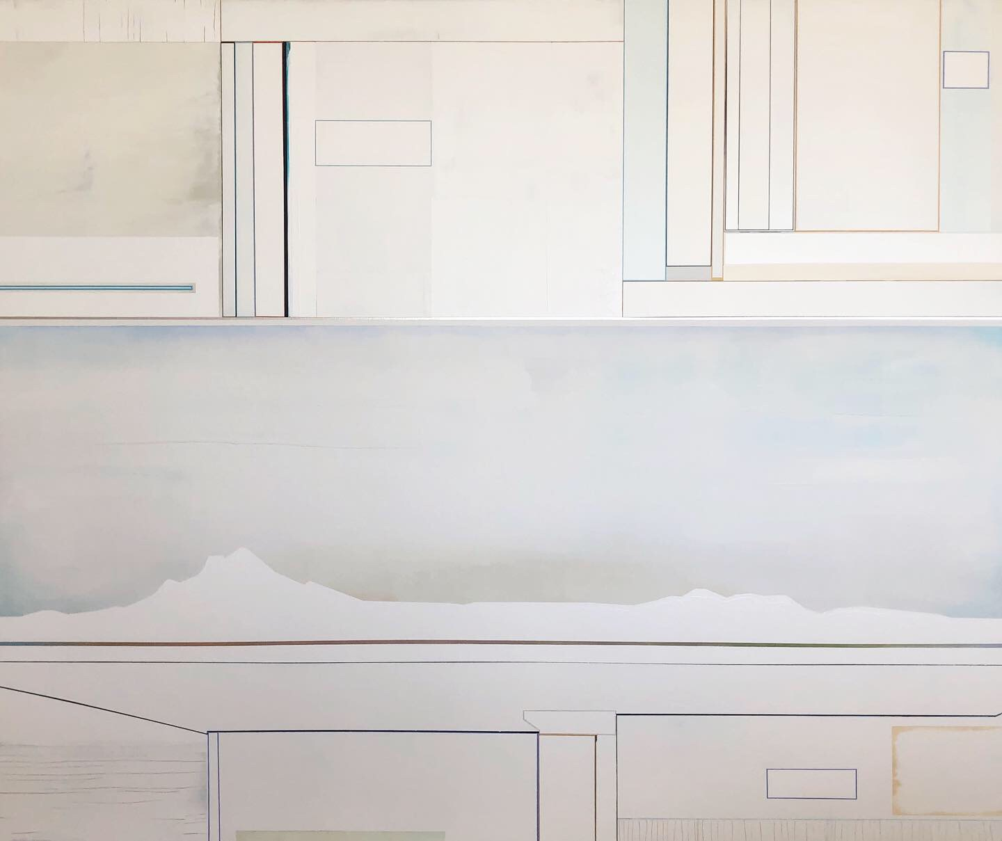 """""""Coordinates"""", 2019, 60""""x72"""". In private collection"""