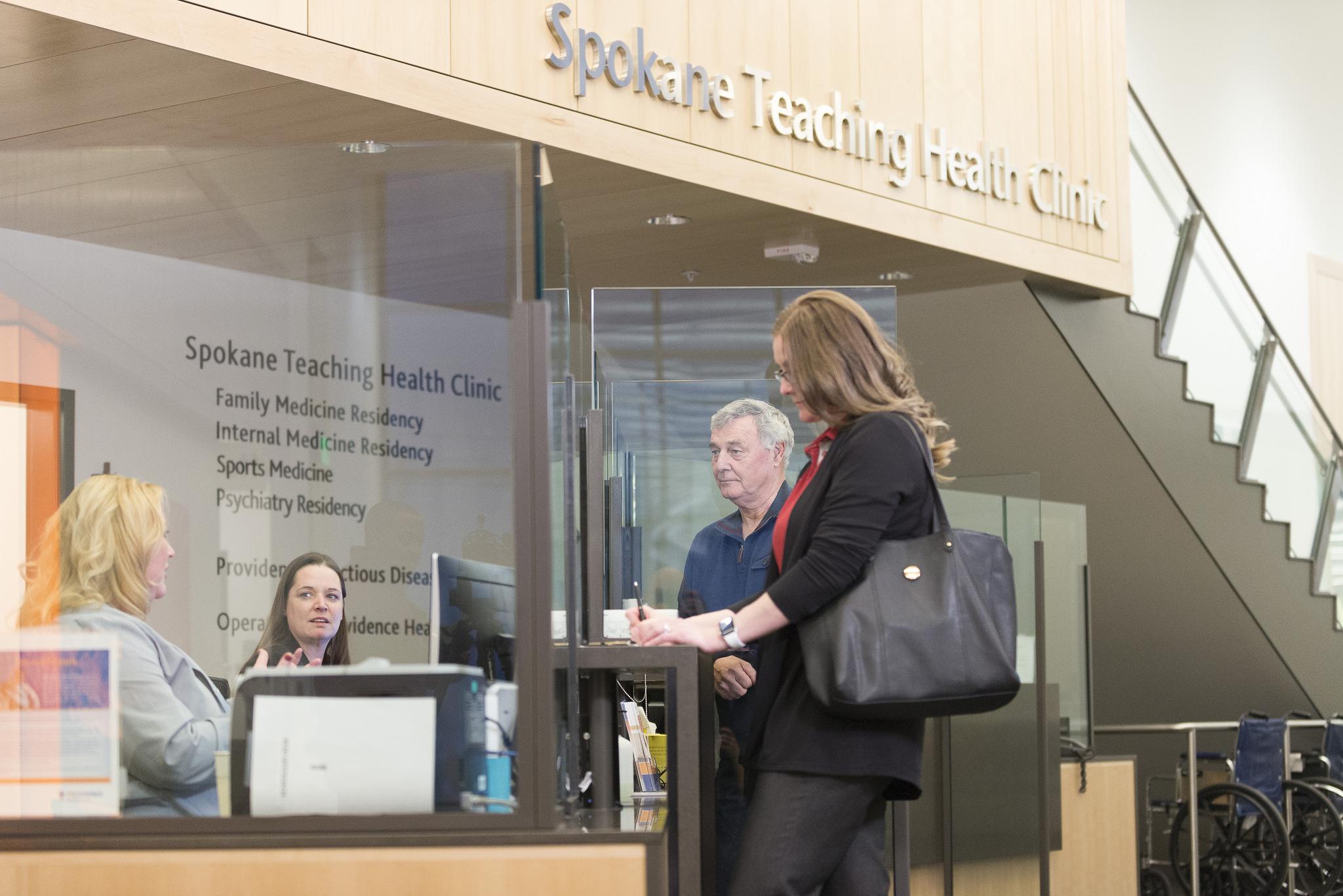 Lobby of the Spokane Teaching Health Clinic