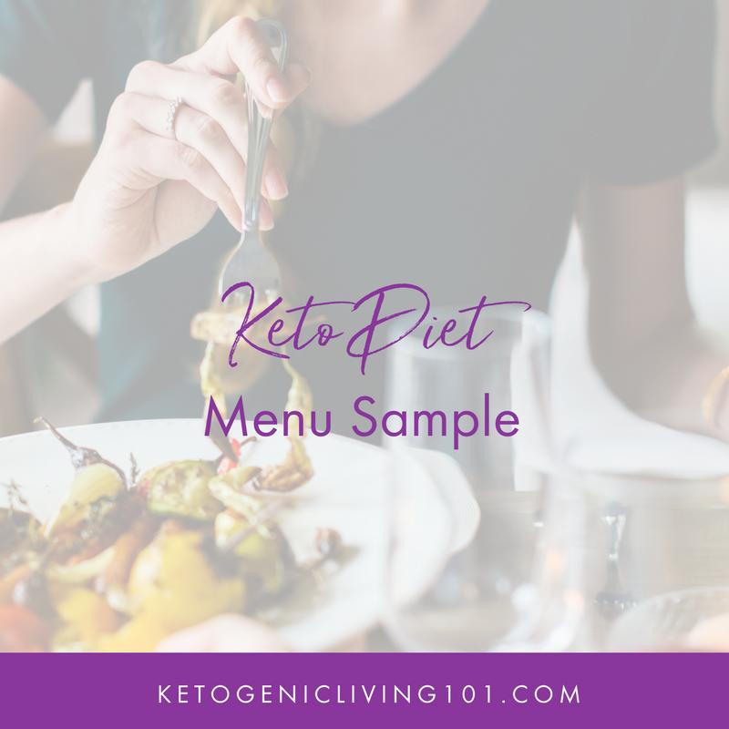 Ketogenic Diet Menu Sample