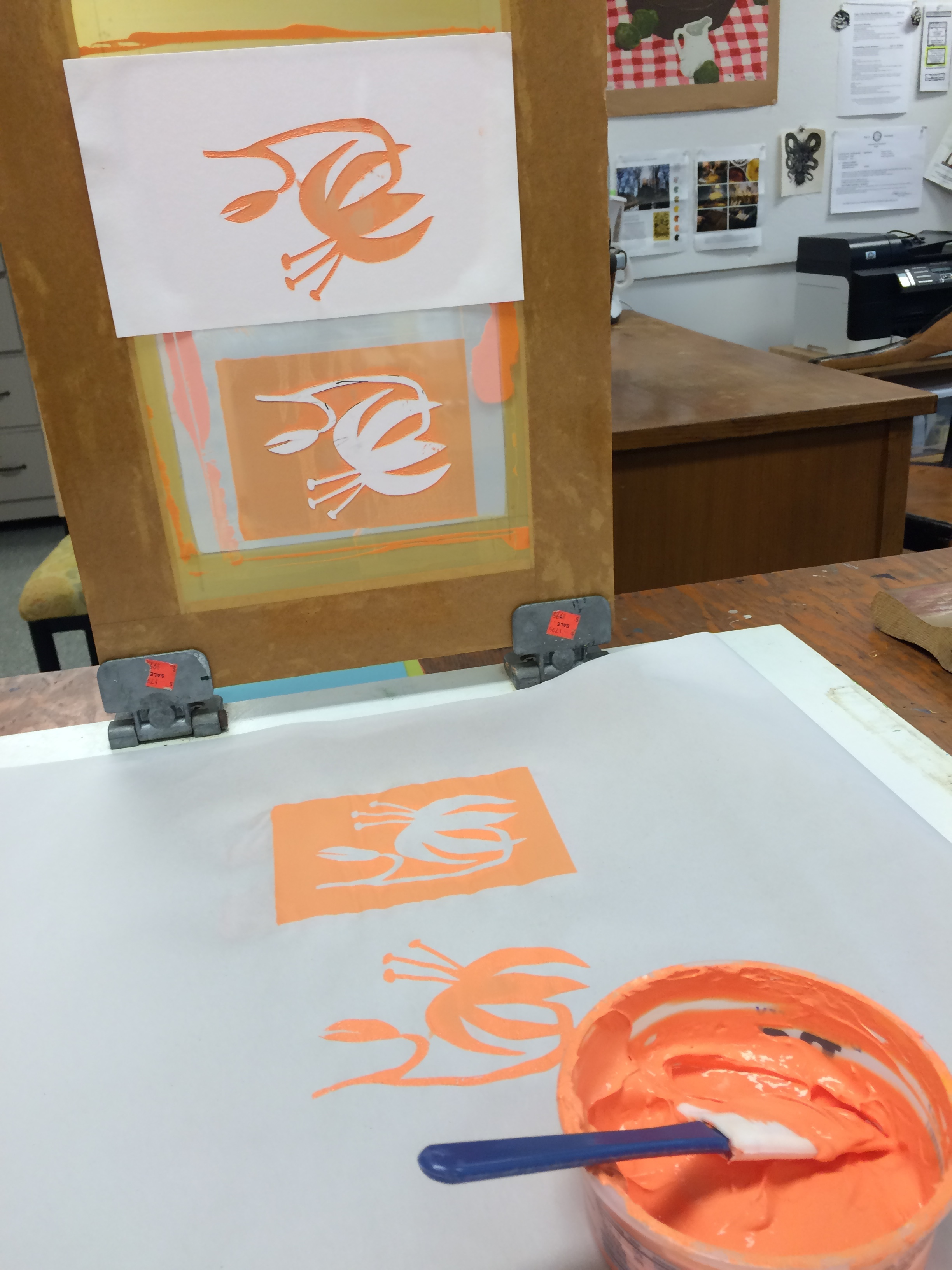 Printing tiger lilies for Tiger Lily Press, where I print.