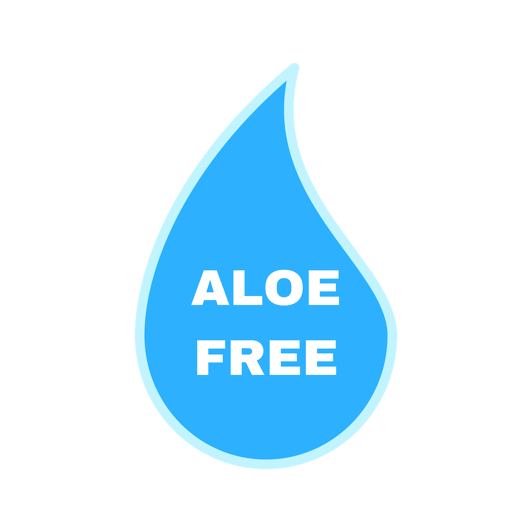 Get the official Aloe Free label to indicate you're allergy-friendly.