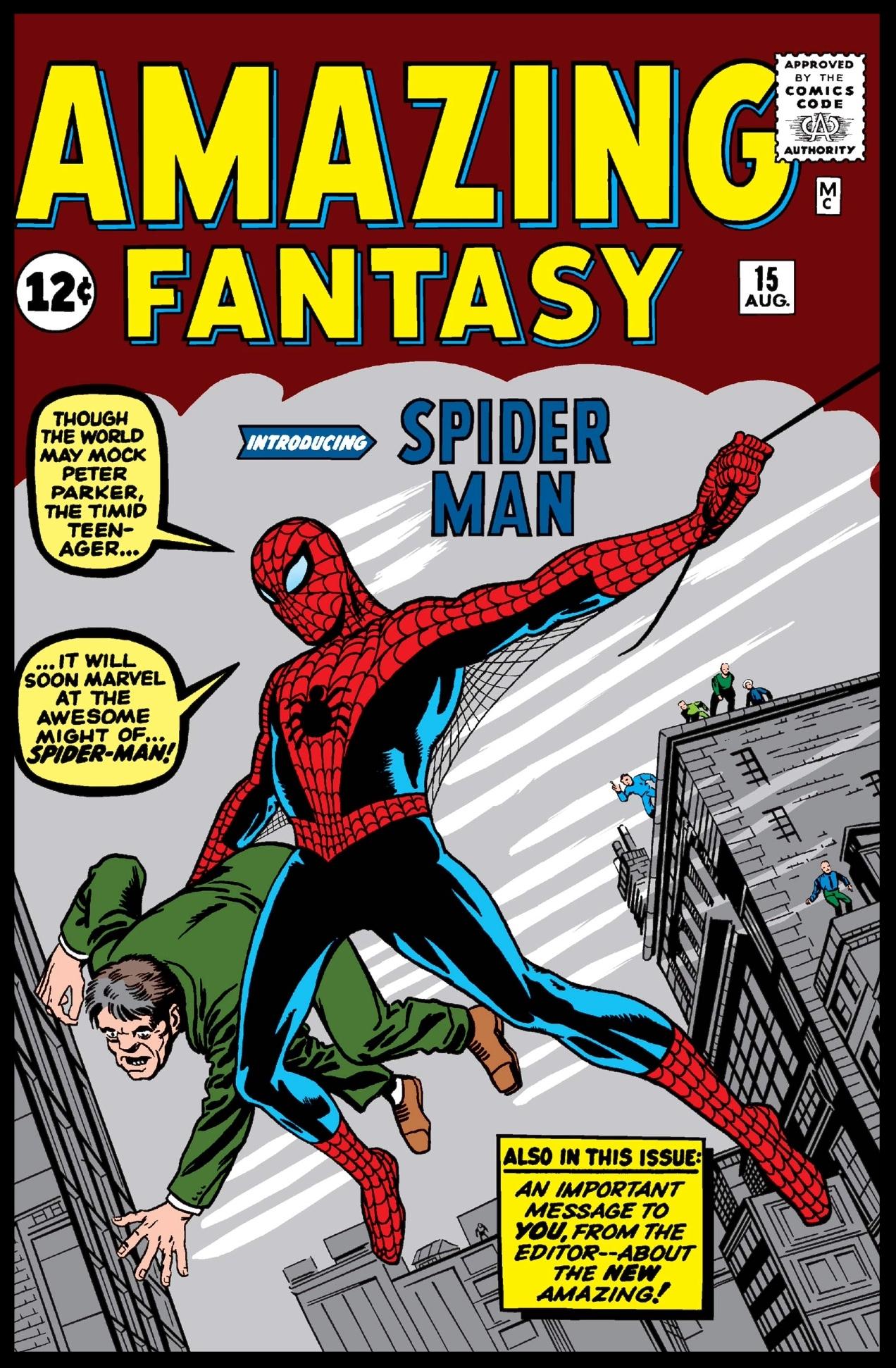 Amazing Fantasy #15 Cover
