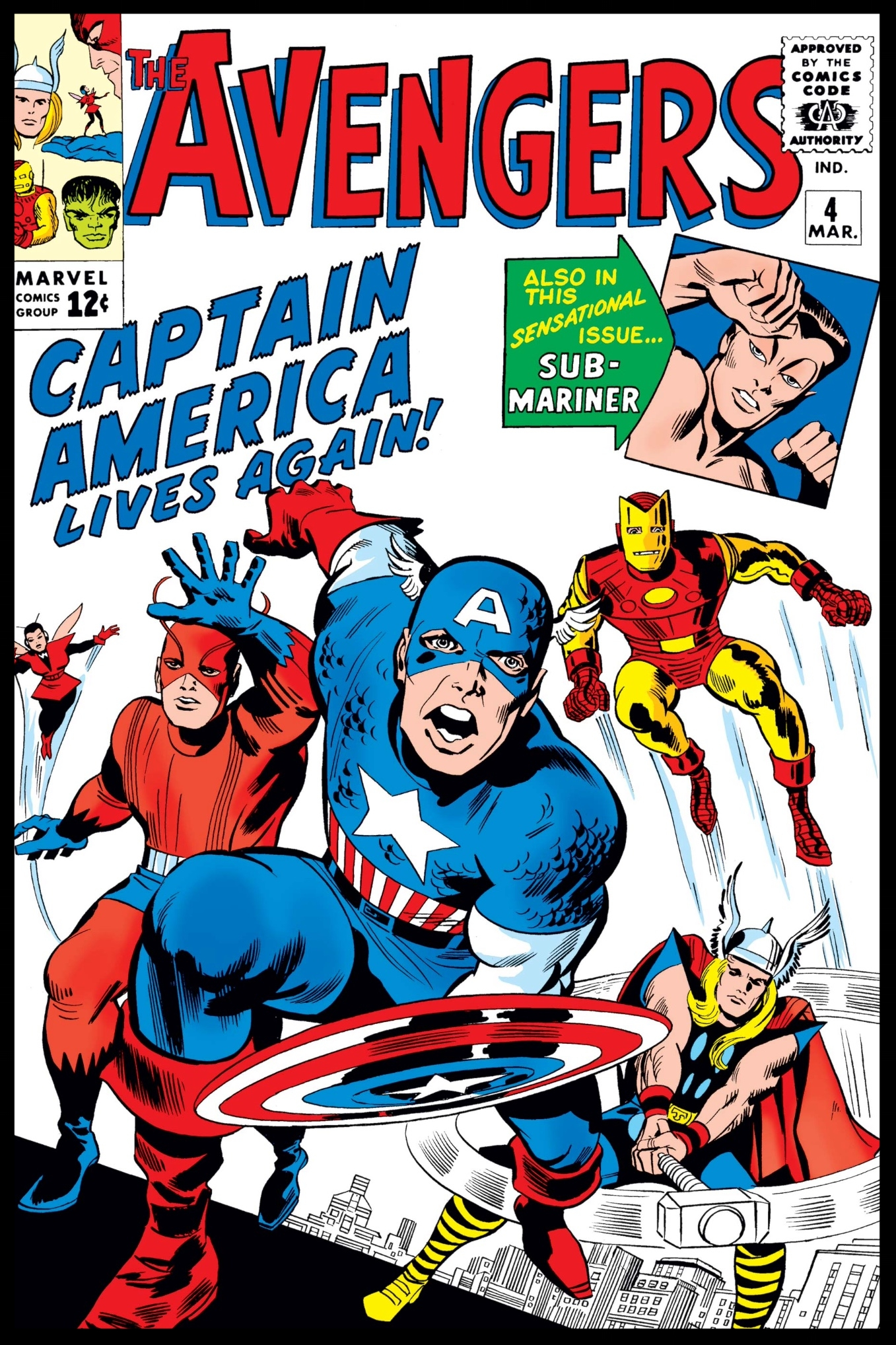 The Avengers (1963) #4 Cover