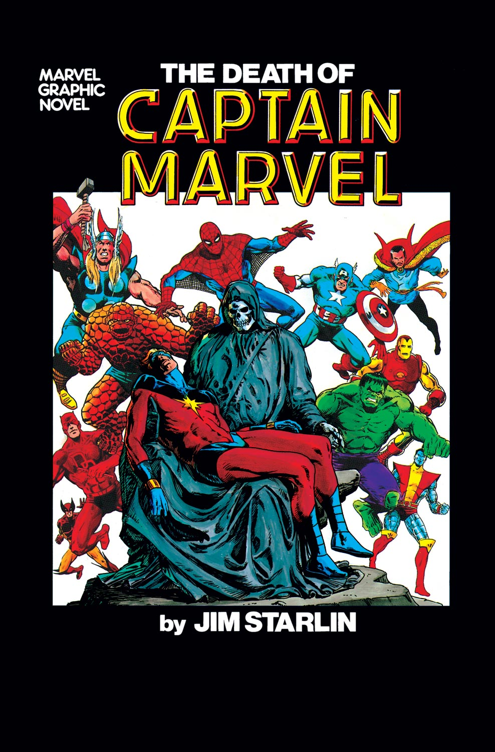 The Death of Captain Marvel Cover