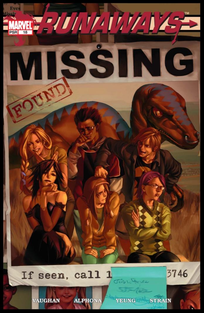 Runaways (2003) #18 Cover