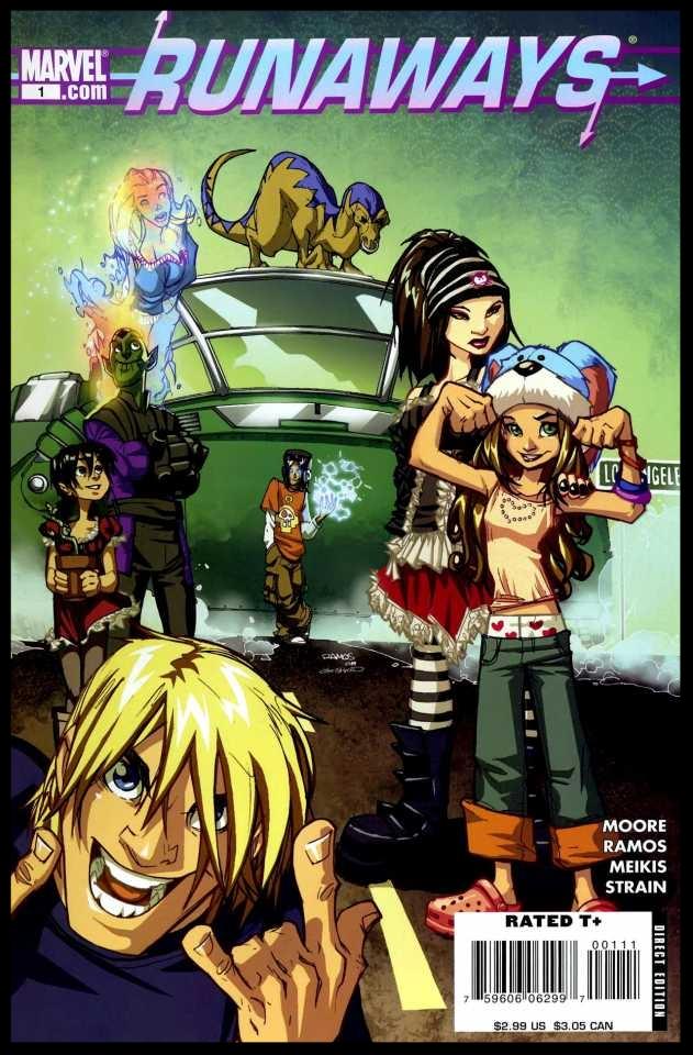Runaways (2008) #1 Cover