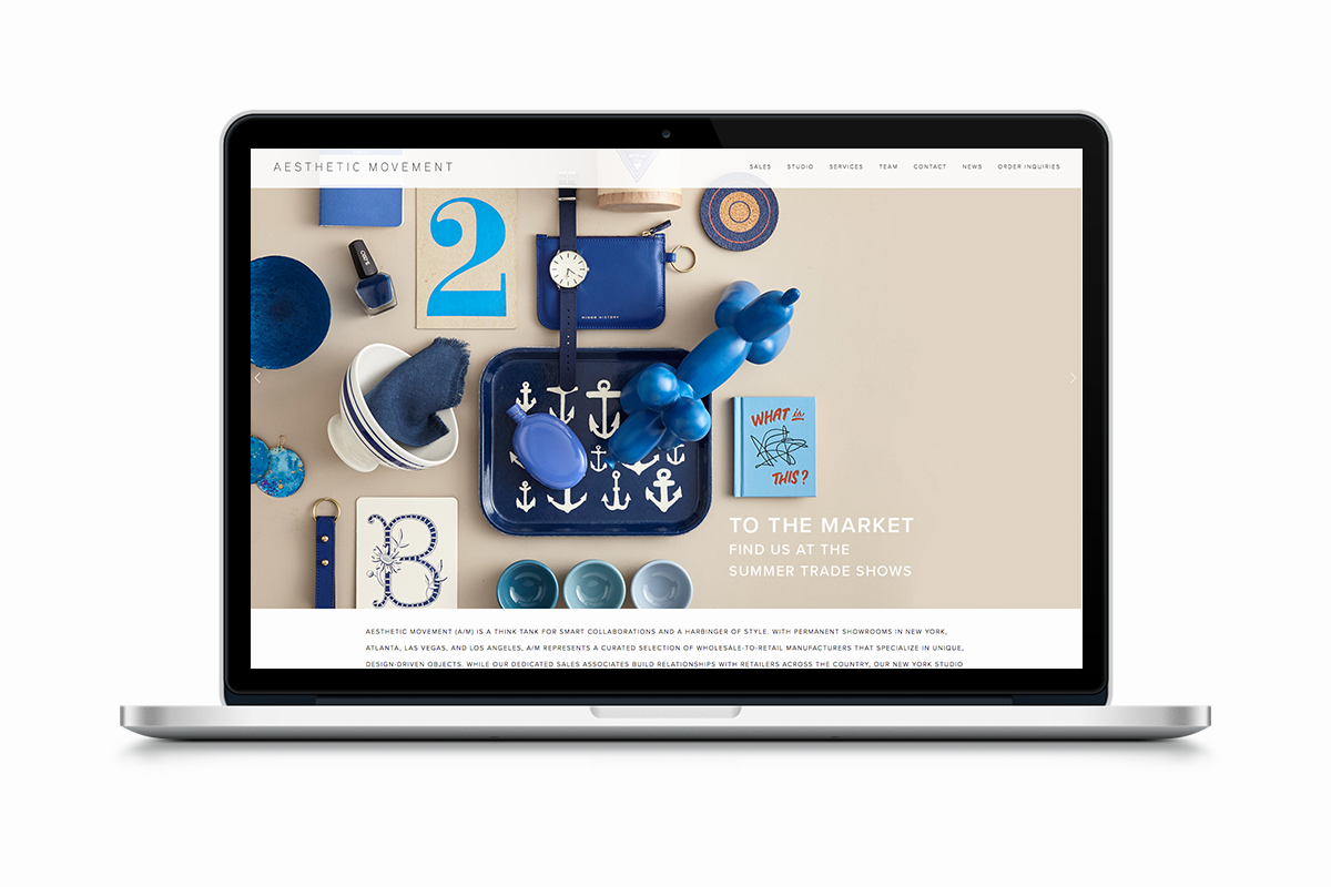 Aesthetic Movement website redesign