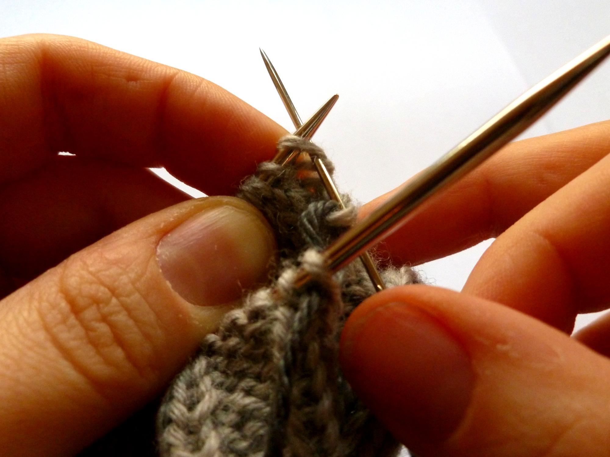 B: Knit on...