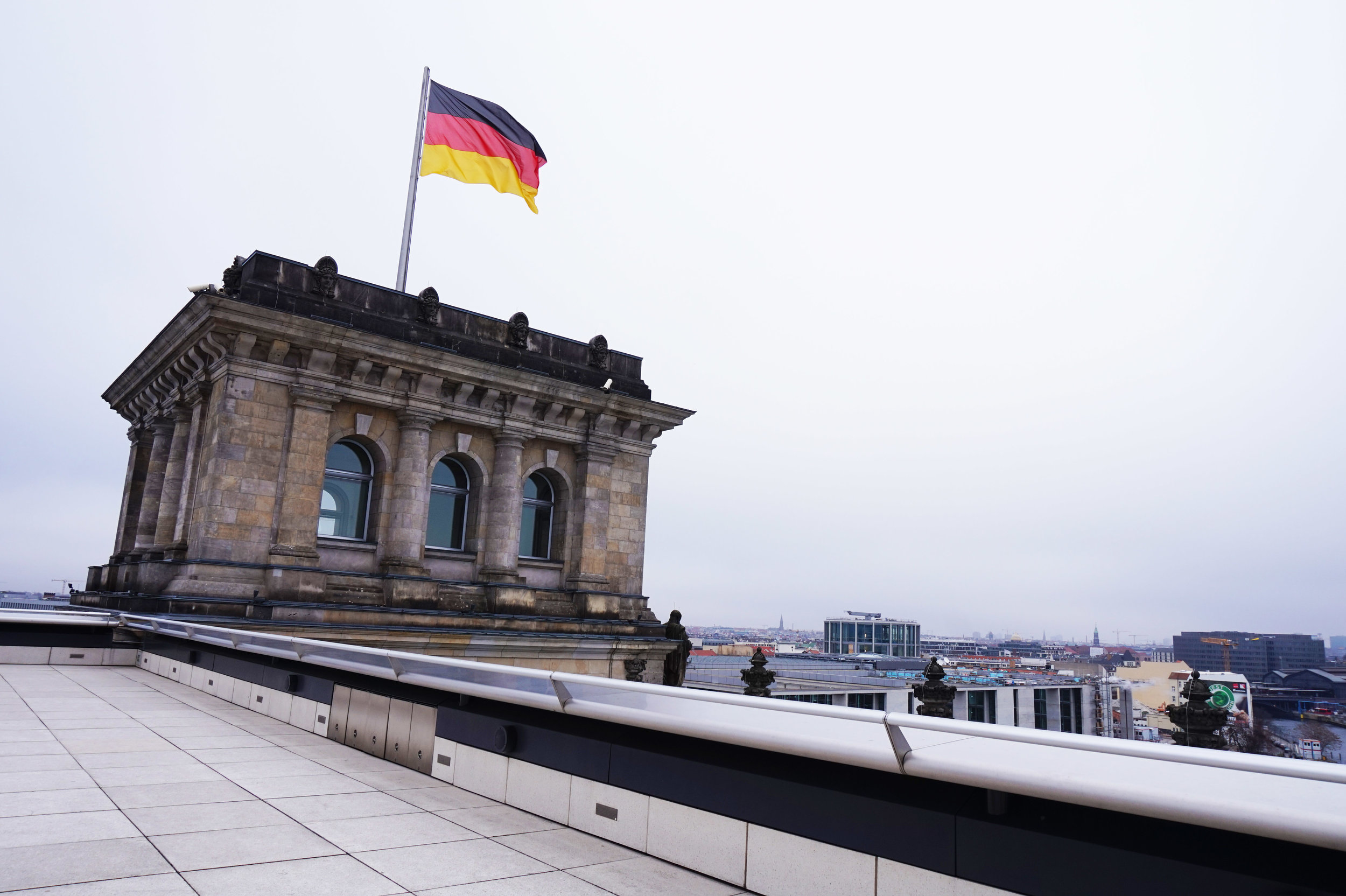 Reichstag building's terrace