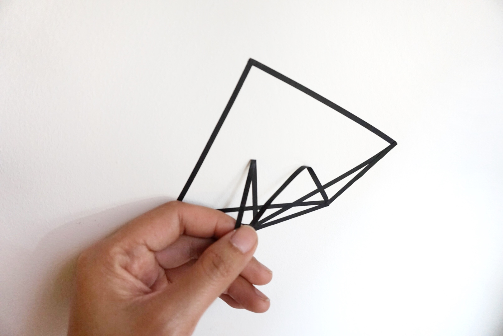 geometric modern washi tape wall art DIY