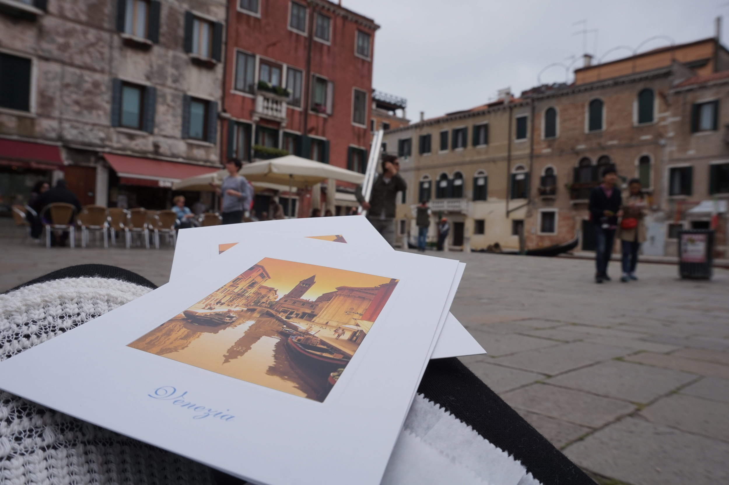 POSTCARD WRITING IN VENICE