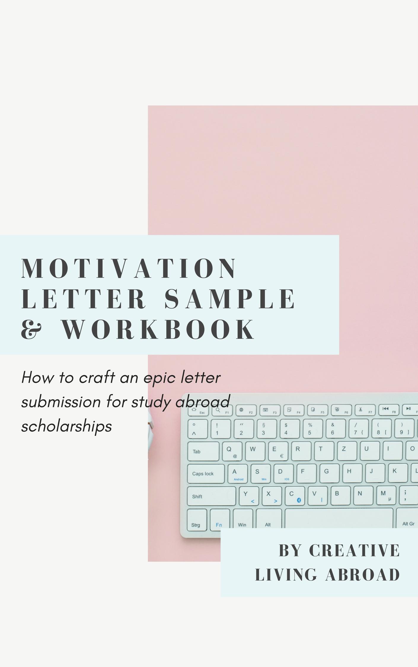 motivation letter workbook for scholarship applications
