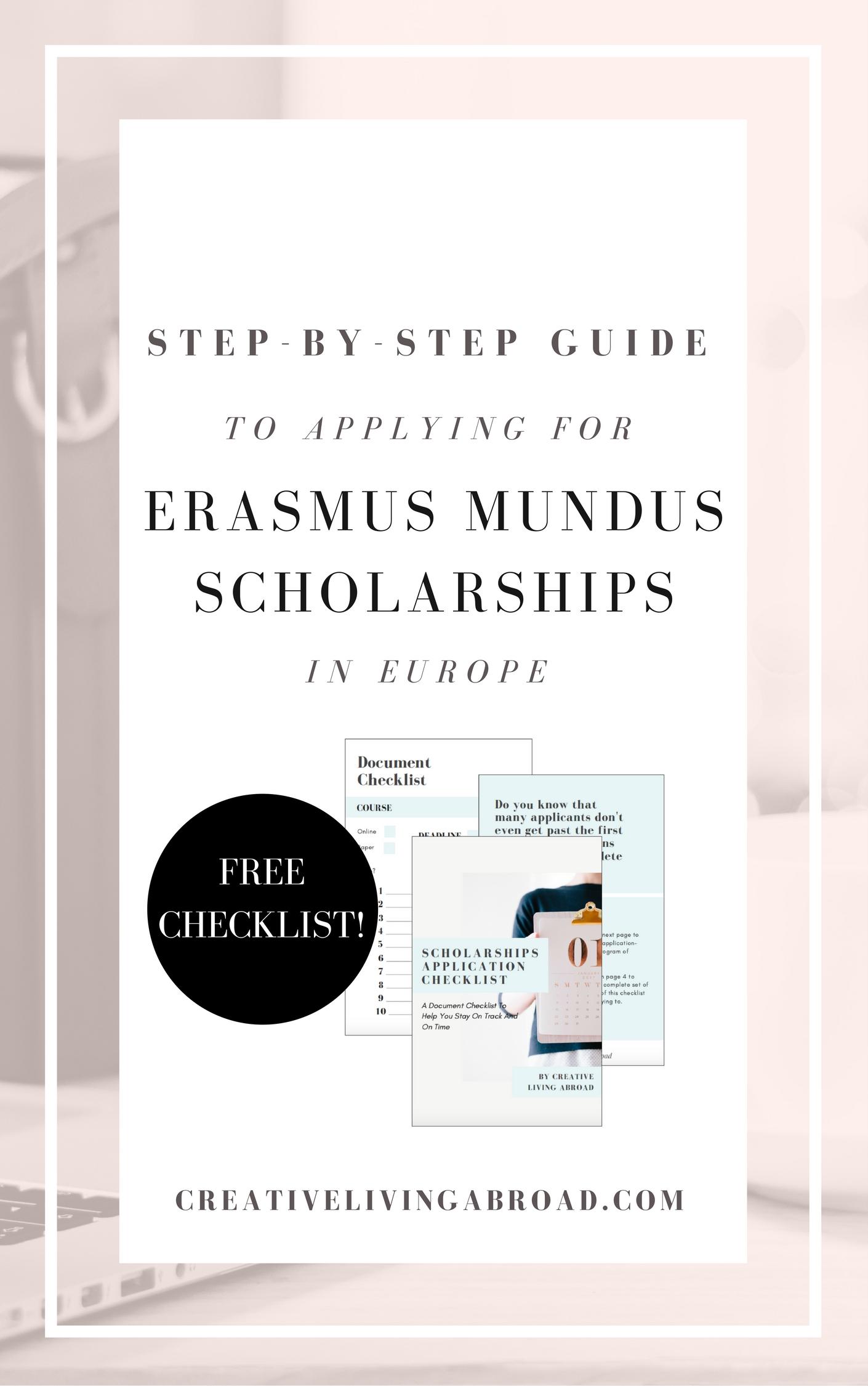 step by step guide erasmus mundus european scholarships