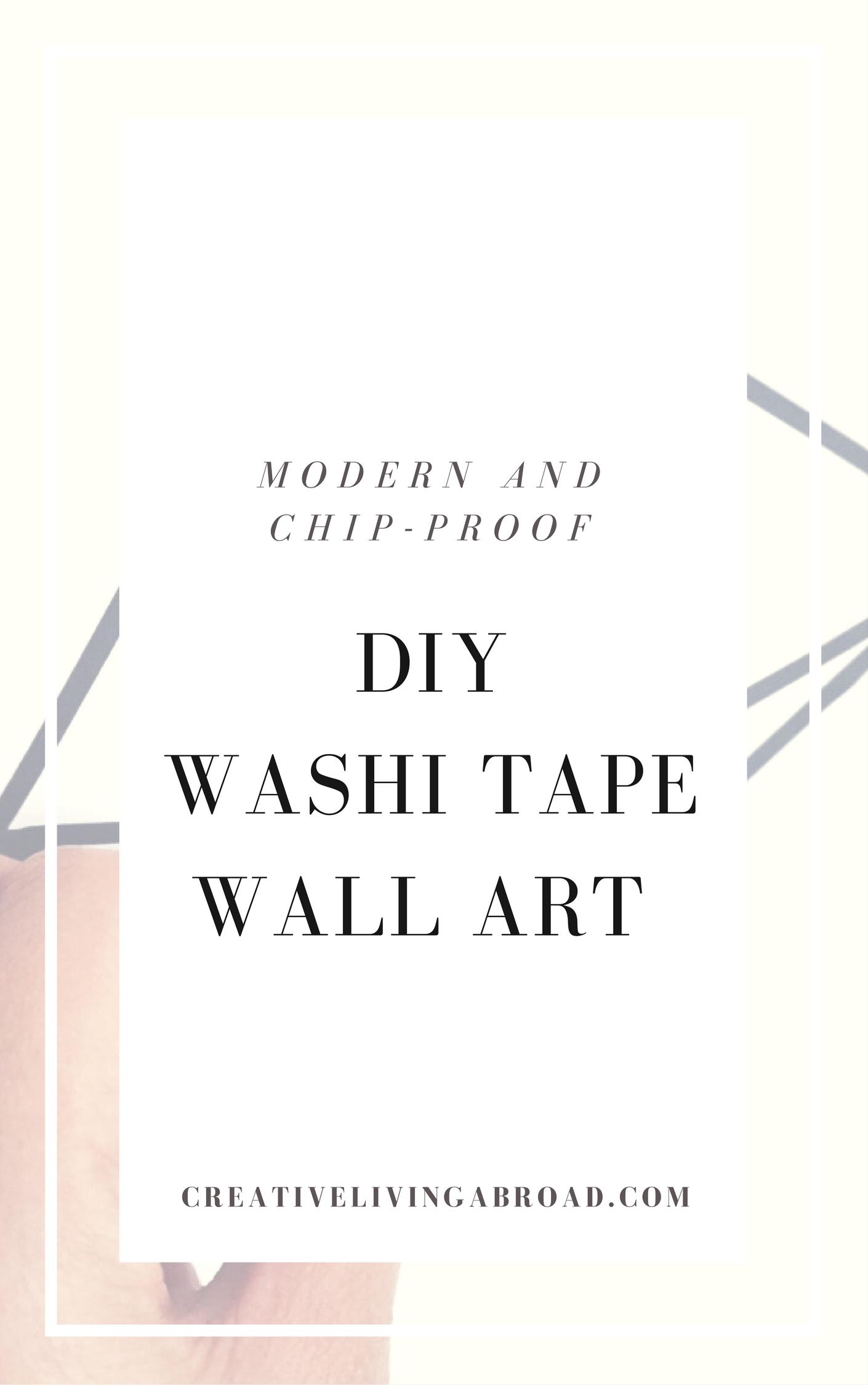 modern chip proof diy washi tape wall art