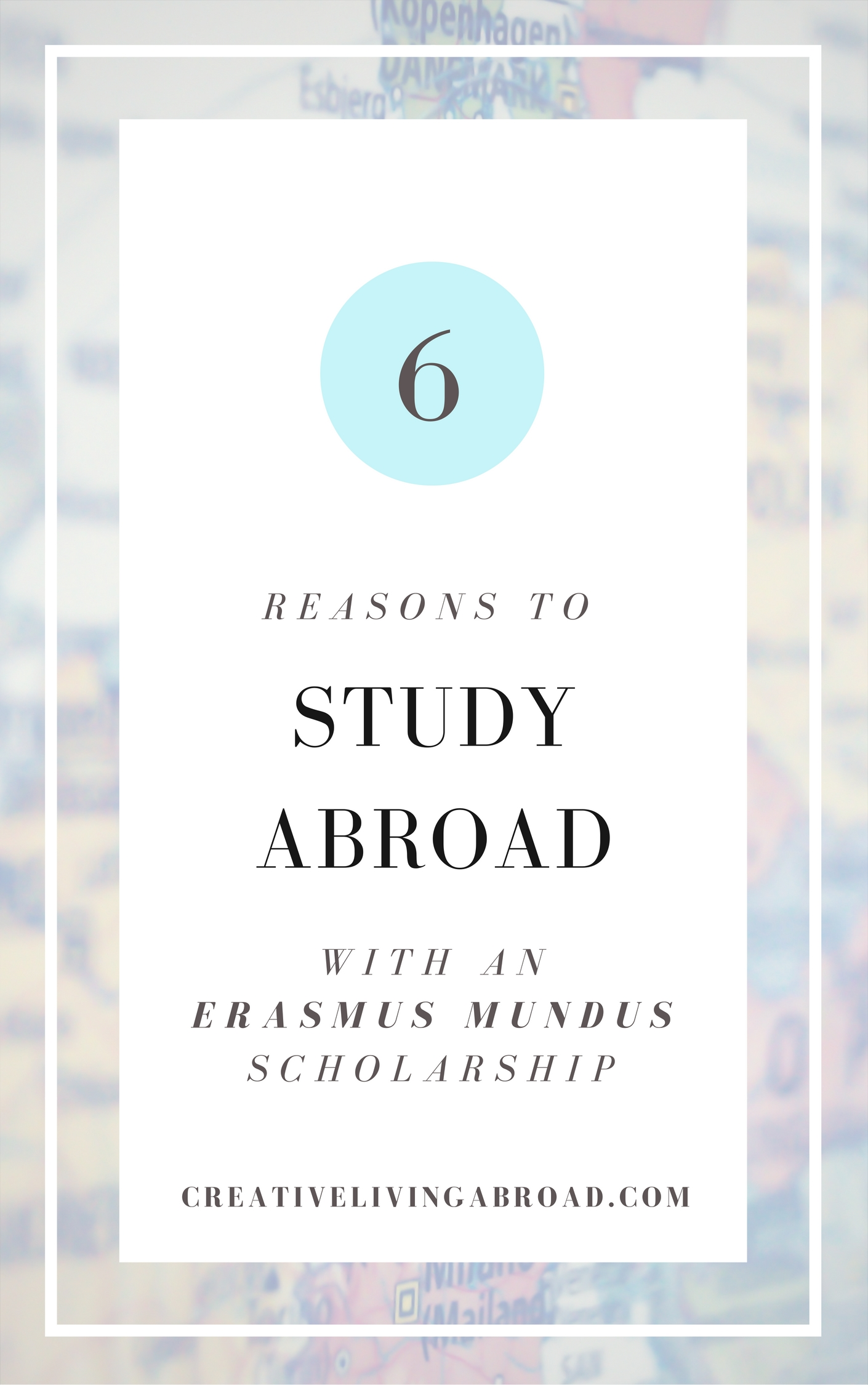 reasons to study abroad with an erasmus mundus scholarship