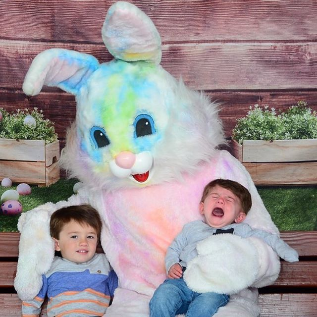 The Tie dye rabbit might have been a bit much for my little dude but his big brother was all about it 😆 #connordeanmartinez #familyfirst #easter #hudsonarthurmartinez #brothers #family